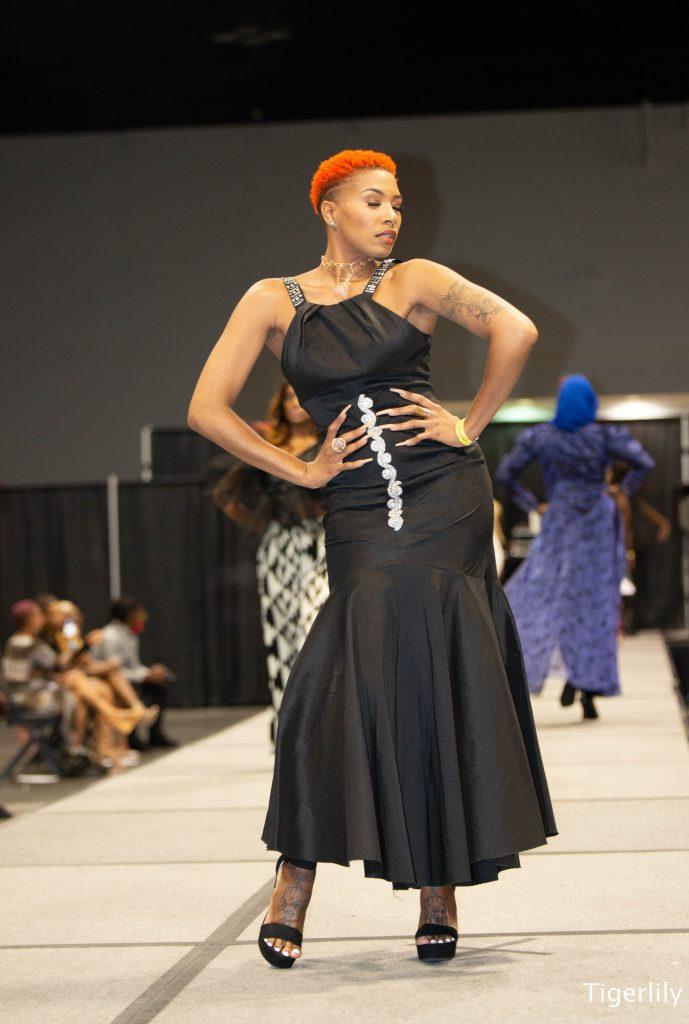 black beauty expo fashion runway model